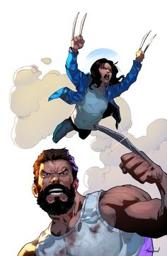 X 23 and Wolverine Wolverine Movie, All New Wolverine, Wolverine Art, Logan Wolverine, Marvel Fan Art, Marvel Heroes, Marvel Comics, X 23, Xman Marvel