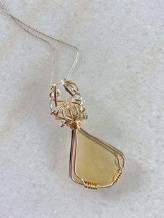 Libyan Desert Glass Talisman Pendant Star Necklace, Pendant Necklace, Desert Glass, Herkimer Diamond, Natural Crystals, Crow, Sterling Silver Chains, Handcrafted Jewelry, Solid Gold