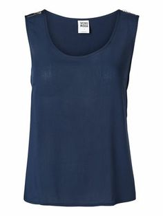 Simple and cute blue top from VERO MODA. #veromoda #blue #top #simple #cute #fashion