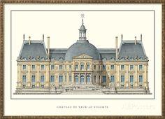 Chateau de Vaux-le-Vicomte, Maincy Print by Louis Le Vau - AllPosters.ca