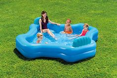 Above Ground Family Swimming Pool 2 Seat Kid Lounge Backyard Fun Children Swimming Pool, Kid Pool, Swimming Pools, Pool Floats For Kids, Water Play For Kids, Perfect Image, Perfect Photo, Love Photos, Cool Pictures