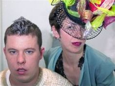 A very young Alexander McQueen and Isabella Blow, the woman who discovered his talent