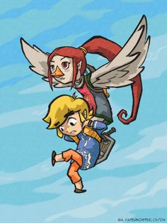 Infrequent Flyers: Medli, Link by paisley on DeviantArt