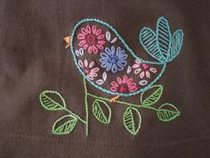 Bird! So cute, I'd like to get into embroidery and stitching like this, but I just don't need to get into ANOTHER hobby! I don't have time for the ones I've got!