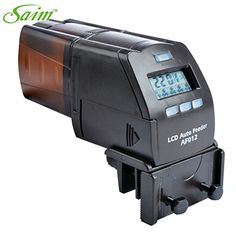 Saim Digital Automatic Aquarium Fish Tank Pond Auto Fish Food Timer Feeder >>> You can get additional details at the image link.