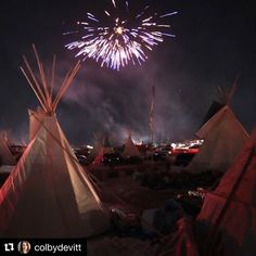 #Repost @colbydevitt  Current mood: ECSTATIC!!! - Fireworks over Oceti Sakowin Camp to celebrate the smashing victory of the water protectors in their efforts to stop the Dakota Access Pipeline. The U.S. government refused to issue the permit to let pipeline company drill under the river. The pipeline is stopped. - Today I cried tears of joy for over an hour. I exhaled for the first time since the election. I trembled from the surprise of an unexpected good. I am dancing singing laughing…