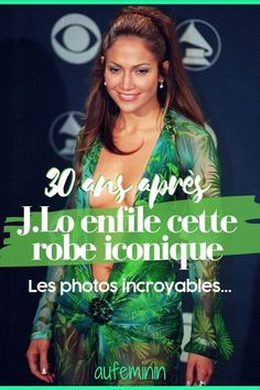 "Jennifer Lopez défile avec sa ""jungle dress"" et affole la Toile Donatella Versace, Claudia Schiffer, Cindy Crawford, Jennifer Lopez, Look Star, Daddy, Mood, Fashion Week, Photos"