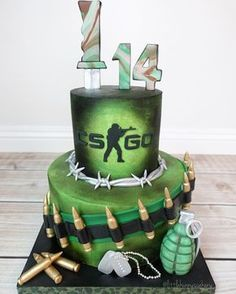 "311 Likes, 12 Comments - Little Hunnys Cakery (@littlehunnyscakery) on Instagram: ""Counter Strike themed cake  Fondant from @fantasiafondant"""