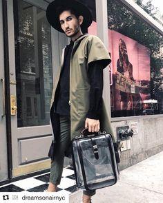 😎 from SOHO, NY . #Repost @dreamsonairnyc with @get_repost ・・・ Time to crush this weekend 🥂🍾💥 — Hat: @reinhardplank Bag: @artphere Jacket: @jungwon_ny Shirt: @gosnnyc Style: @guvajan ✌🏻 . #artphere #japan #newyork #bagstagram #style #fashion #soho #mensfashion #womensfashion #bag