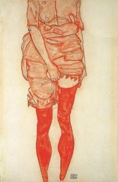 Egon Schiele, RED STOCKINGS
