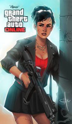 GTA Online character: Chelle by mattolsonart http://gtafivetrainer.vom