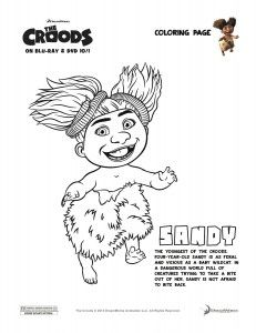 The Croods Coloring Page - Sandy