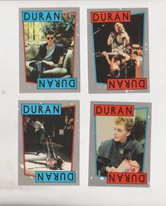 Duran Duran Trading Card  Duran Duran    Trading Cards