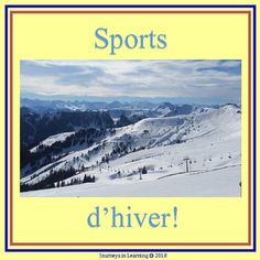 "Get your students excited about the upcoming winter sporting events. This FRENCH resource includes: -""Sports d'hiver"" acrostic -""Sports d'hiver"" word make - Favorite winter sport write up and draw - Mascot creation - Medal designing - Sports match up (match picture with sport) - Brochure to complete Athlete Biography (print both pages back to back)"