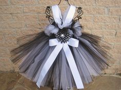 Tutu Dress BLACK FROSTED WHITE Babies 024 Months Bit by ElsaSieron, $63.00