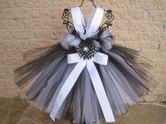 Tutu Dress BLACK FROSTED WHITE Babies 024 Months Bit by ElsaSieron, $63.00