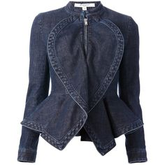 GIVENCHY denim peplum jacket ($1,366) ❤ liked on Polyvore featuring outerwear, jackets, coats, coats & jackets, denim jacket, long sleeve jacket, denim peplum jacket, givenchy and givenchy jacket