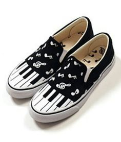 Music note shoes