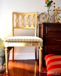 gild a chair in gold! Via Brittany Makes