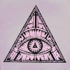 eye drawing illuminati triangle eye drawing draw a curved line for ...