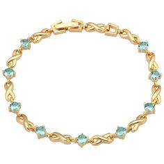 Find More Charm Bracelets Information about Best Quality Bracelets 18K Gold plated  Bracelets & bangles Skyblue Cubic Zirconia Sapphire fashion jewelry B104,High Quality jewelry clasp,China jewelry and watch box Suppliers, Cheap jewelry funky from Dana Jewelry Co., Ltd. on Aliexpress.com