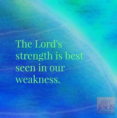 2 CORINTHIANS - Therefore I take pleasure in infirmities , in reproaches, in distresses for Christ's sake: for when I am weak, then I am strong. How He Loves Us, God Loves Me, Praise The Lords, Praise And Worship, Love The Lord, Gods Love, Jesus Pictures, Jesus Quotes, Inspirational Message