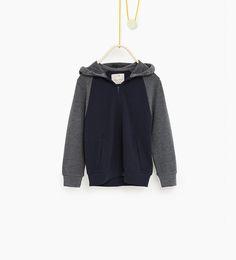 Image 1 de Veste en piqué avec manches en contraste de Zara