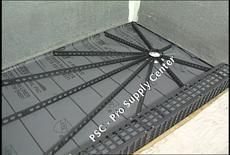 """Mark E Quick-Pitch Shower Floor Standard Kit -- 6 Standard 36"""" Float Sticks and Center Ring. The Quick Pitch Float Stick System for easy construction of shower floors. Eliminates the need for measurements or levels to achieve a properly sloped shower floor. Includes 6 Standard Float Sticks, 1 Standard Center Ring."""