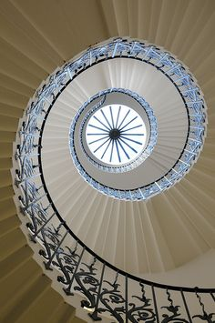 Tulip Stairs - Queen's House in Greenwich, London. I took the exact same picture a few years ago.