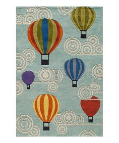 Look at this Hot Air Balloon Rug on #zulily today!
