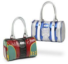Carry all of your accessories in style with these Star Wars Bowling Bag Style Purses. These satchel-style handbags for the Star Wars geek look awesome and will help you to carry all of your stuff. You can choose from either Boba Fett