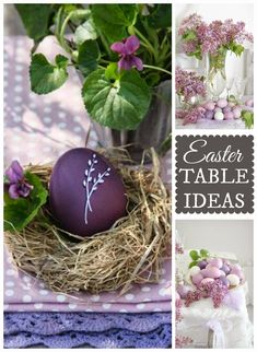 63 Unique Easter Decor Ideas To Give Your Home A Stylish Touch schöne Ostern lila Dekoration Hoppy Easter, Easter Bunny, Easter Eggs, Spring Crafts, Holiday Crafts, Oster Dekor, Easter Parade, Easter Celebration, Easter Holidays