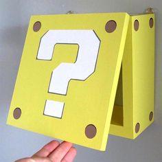 NEW Super Mario Question Block Night Light Kids Bedroom or Study Unique Fun Gift