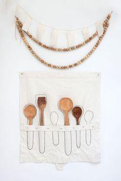Set à cuillères Atelier Sukha, fabriqué à la main en Inde, 83 x 68 cm, 79 euros…