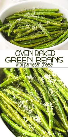 green bean recipes These oven baked green beans with parmesan cheese are simple to prepare and ready in under 30 minutes. Perfect for a healthy side dish or a light meal. Healthy Side Dishes, Vegetable Sides, Side Dishes Easy, Vegetable Side Dishes, Side Dish Recipes, Veggie Recipes, Vegetarian Recipes, Dinner Recipes, Healthy Recipes