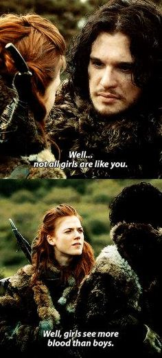 Game of Thrones   ygritte and jon snow