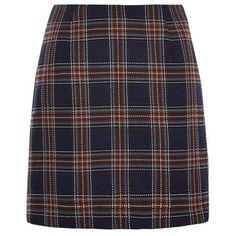 Louche Tessi Tartan Skirt ($24) ❤ liked on Polyvore featuring skirts, mini skirts, bottoms, back zipper skirt, plaid mini skirts, plaid a line skirt and tartan skirts
