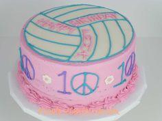 Volleyball Birthday Cake cakepins.com                                                                                                                                                      Mais
