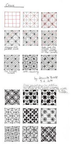 """tangle pattern """"Crux"""" - Strohsterne basteln - Henrike Bratz"""