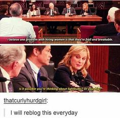 Parks and Recreation Leslie Knope Feminism Parks N Rec, Parks And Recreation, Parks And Rec Memes, Funny Memes, Hilarious, Funny Quotes, Quotes Distance, Faith In Humanity, Along The Way