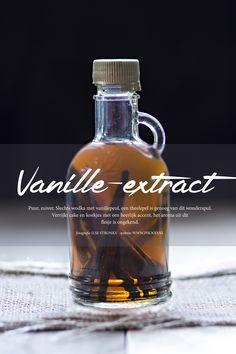 Geen chemische vanille meer in baksels, maar heerlijk puur vanille-extract. Enkel twee ingrediënten.