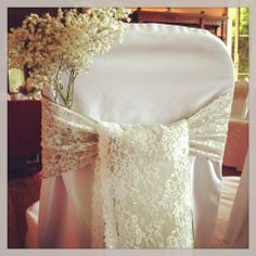 Lovely lace chair sash