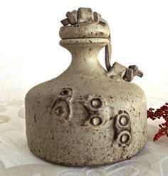 Clay Oil Decanter, Vintage Kitchen, Rustic Decanter, Pottery Oil Decanter, Retro Pottery, Kitchenware, Oil Decanter by AgedwithGraceVintage on Etsy