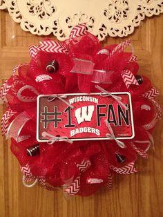 Wisconsin Badgers Mesh Wreath