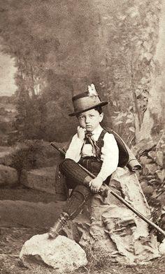 +~+~Antique Photograph~+~+ Little Hiker