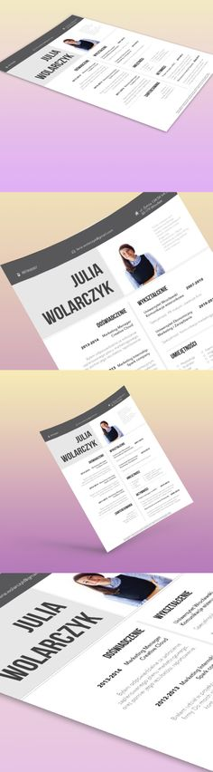 Beautiful, creative resume design Follow us on twitter - classic resume design
