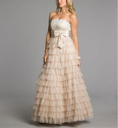 My prom dress but I added sleeves so it could be modest!