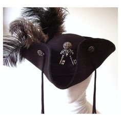 Gothic steampunk pirate hat Alice keys ❤ liked on Polyvore featuring accessories