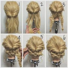 Flawless 21 Super Easy Updos for Beginners https://fazhion.co/2017/09/27/21-super-easy-updos-beginners/ On top of that, most buns only have a matter of minutes to gather. As a consequence, you are obtaining a form of a sloppy low bun. This easy bun is cute and simple to accomplish. #easyhairstylesforbeginners