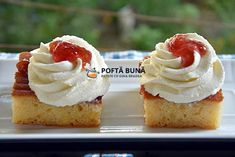 Romanian Food, Romanian Recipes, Easy Bun, No Cook Desserts, Sweet Tooth, Cheesecake, Muffin, Good Food, Cupcakes